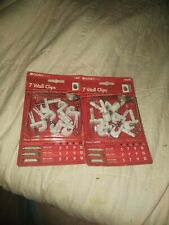 ClosetMaid 7 Drywall Clips White Part #76610 New