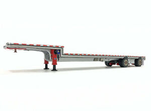 East Step Drop Deck Aluminum Trailer - Red Weiss Bros 1:50 Scale #027-1702 New!