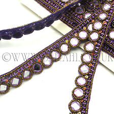 PURPLE MIRROR Rhinestone trimming,edging,trim,sequins,beads,embellishment,stones