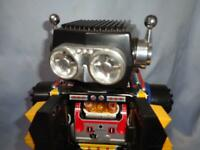 Horikawa Toy Electric Tinplate Robot Mars The Great vintage made in japan 30cm