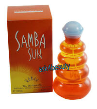 SAMBA SUN FOR WOMEN 3.4 OZ EDT SPRAY BY PERFUMERS WORKSHOP & NEW IN A BOX