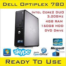 Dell OptiPlex 780 Dual Core 4 GB 2.93-3.16 Ghz Pc De Escritorio DDR3 Ram/Windows 7 Pro