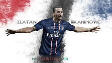 "108 Zlatan Ibrahimovic - Swedish Professional Striker Footballer 25""x14"" Poster"