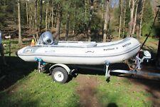 bateau pneumatique NIMARINE 350, moteur 15cv et remorque, ensemble presque neuf