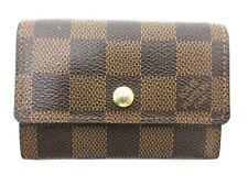 Authentic Louis Vuitton Damier Porte Monnaie Plat N61930 Coin Purse Good 95993
