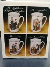 Collector's Porcelain Mug by Norman Rockwell Trimmed in Pure 24 Karat Gold