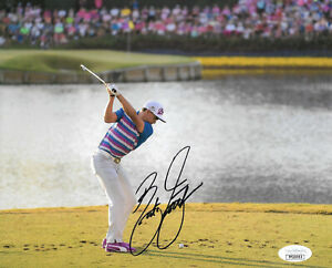 RICKIE FOWLER SIGNED AUTOGRAPHED 8X10 PHOTO GOLF PLAYERS US PGA MASTERS JSA