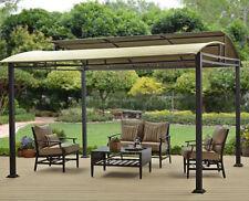 Steel Frame Gazebo Shade Roof Garden Outdoor Pergola Canopy Shelter Backyard GRN