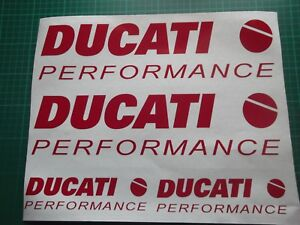 Ducati Performance 1199 1098 999 998 916 899 Fairing Decal Sticker x4