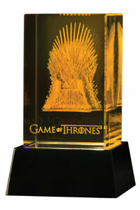 GAME OF THRONES 3D CRYSTAL IRON THRONE OFFICIALLY LICENSED