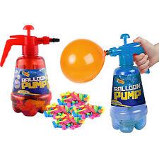 2 in 1 Air Water Bomb Balloon Pump Kids Party Outdoor Garden 100pc Balloons Set