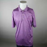 Brooks Brothers Purple Country Club St Andrews Link Old Course Polo Shirt Mens L