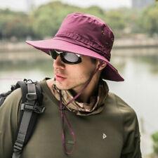 Boonie Bucket Hat Outdoor Fishing Hunting Wide Brim Mesh Safari Sun Unisex Cap F