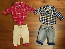 LOT GAP Gymboree Boys Fall Western Top Jeans Pants Clothes Set 3-6 Months EUC