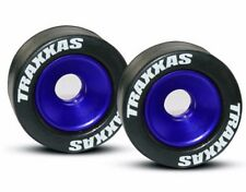 Traxxas Mntd Wheelie Bar Tires/Whls Blue x2 E-REVO E-MAXX RUSLTER SLASH # 5186A