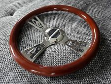 CUSTOM legno volante Hot Rod CHEVROLET CHEVY FORD MUSTANG DODGE FIAMME CROMO