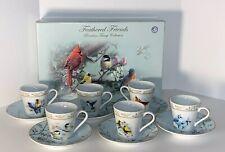 Bradford Exchange Bird Teacups Feathered Friends Porcelain Teacup Collection Set