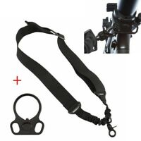 Fit 2AR Rifle Gun W/ Dual Plate Mount Adapter Tactical 1 One Single Point Sling