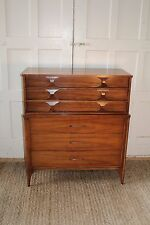 Kent Coffey Mid Century Modern Perspecta Walnut/Rosewood Dresser/Highboy Chest