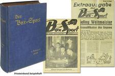 Boxsport Boxen 1930 Jahrgang 52 Zeitungen Komplett Max Schmeling Olympia 1928