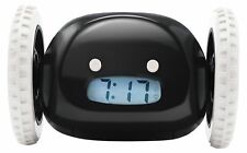 Clocky, the Original Runaway Alarm Clock on Wheels, Black