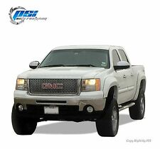 BLACK PAINTABLE Extension Fender Flares 07-13 GMC Sierra 1500 Short Bed 69.3""