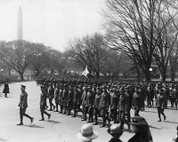 American soldiers returning from WWI parade in Washington DC New 8x10 Photo