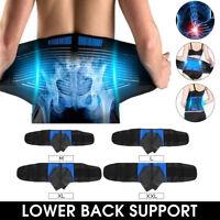 Adjustable Neoprene Double Pull Lumbar Lower Back Support Belt Brace Pain