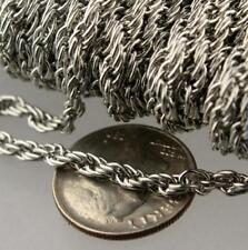 Lot 2 meter stainless steel Chain Jewelry findings Silver 4mm Rope Chain Marking