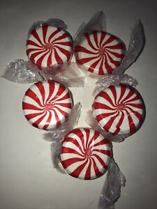 5 Peppermint Candy ~TWISTED PEPPERMINT~ Bath & Body Works ~BATH BOMB FIZZY~NEW