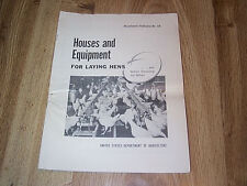 Houses & Equipment For Laying Hens - US Dept Of Agriculture 1956 Chicken Poultry