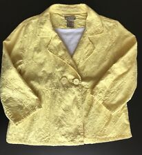 Art And Soul Yellow Eyelet Peplum Jacket Womens M