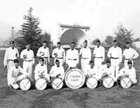"1930's Drum & Bugle Corps, Covina, CA Old Photo 8.5"" x 11"" Reprint"