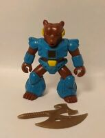 Battle Beasts Grizzly Bear with Weapon and working Rub