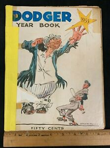1955 VINTAGE OFFICIAL BASEBALL BROOKLYN DODGERS YEARBOOK KOUFAX ROOKIE  4121