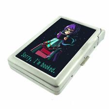 Book Princess Em1 Cigarette Case with Built in Lighter Metal Wallet