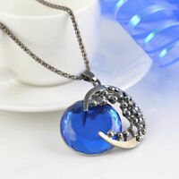 Jewelry Retro Sweater Long Crystal Pendant Women 2018 Necklace Chain Moon