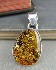 Sterling Silver & Amber Pendant