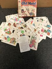 Vintage 1968 Jumbo Old Maid Card Game + Box & Instructions Complete