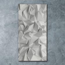Wand-Bild Kunstdruck aus Hart-Glas Hochformat 60x120 Abstrakte 3D-Figuren