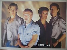 LEVEL 42, AUTHENTIC 1980's POSTER