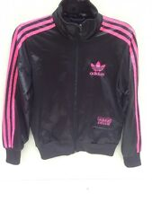 Girls Adidas Originals Chile 62 Black/Pink Tracksuit Jacket Size 14