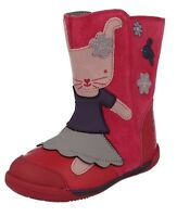 5.5F CLARKS Nibbles Pink Berry Iva Friend First Boots Leather Suede Rabbit Bunny