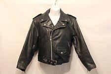 SCHOTT PERFECTO Vintage Women Black Leather Motorcycle Jacket Size 6 small