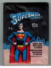 1978 TOPPS O-PEE-CHEE OPC SUPERMAN THE MOVIE UNOPENED CARD STICKER PACK FROM BOX