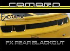 2010 - 2013 Chevrolet Camaro Rear Fascia Trunk Blackout kit Dealer Quality