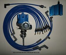 CHRYSLER 440 1973-78 BLUE Small Female Cap HEI Distributor,COIL,Spark Plug Wires