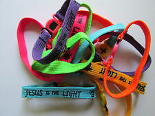 48 JESUS IS THE LIGHT BRACELETS religious church VBS Bible Study Sunday School