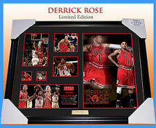 NEW! DERRICK ROSE NBA MEMORABILIA SIGNED FRAMED LIMITED EDITION 499 W/ C.O.A