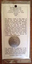 Meteor Crater Benchmark Pin, approx. 1.25 inch diameter (made in USA)